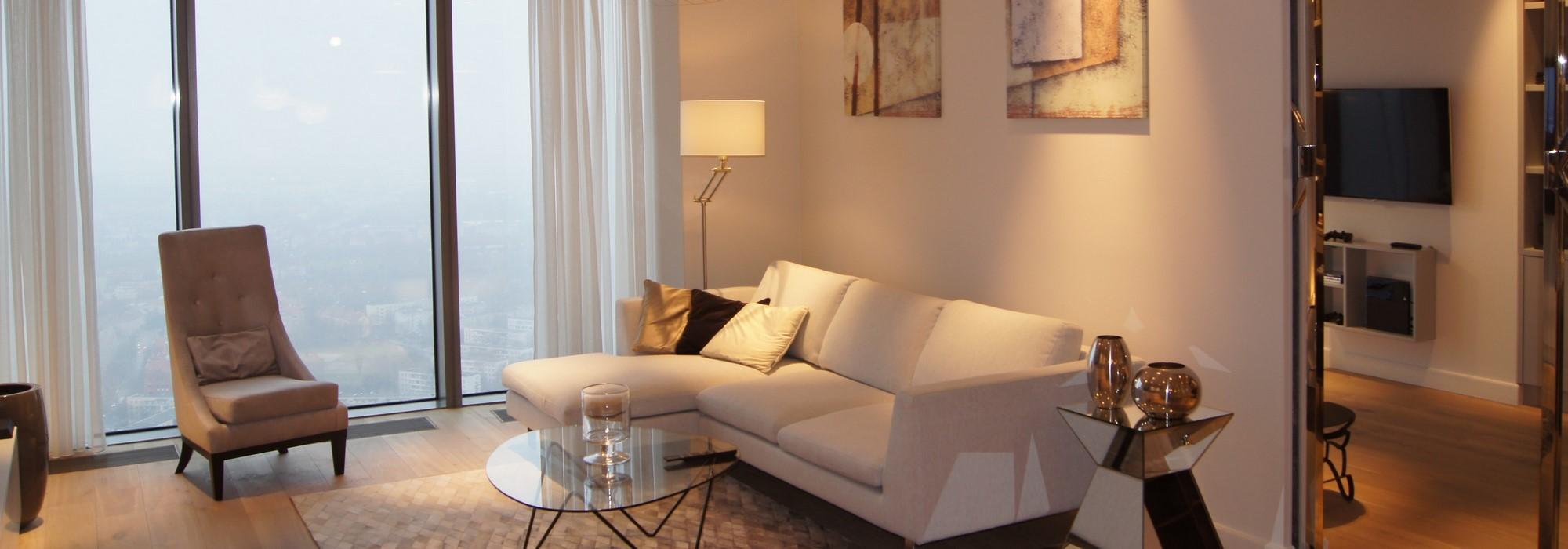 Luksusowy apartament w Sky Tower